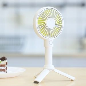 BENKS F12 3350mAh Multifunctional Portable USB Cooling Fan Handheld Mini Fan with 3 Adjustable Speeds - White
