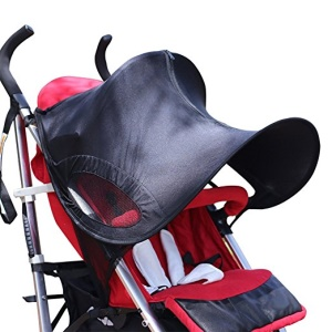 Baby Stroller Sun Rain Shade Awning Waterproof Windproof Anti-UV Umbrella Canopy for Stroller Carriage Seat