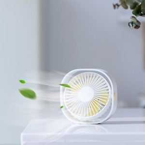 BASEUS Rotary Wired USB Cooling Fan 3 Adjustable Speeds Desktop Mini Fan - White