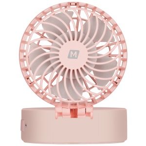MOMAX iFan 2 Handheld Rechargeable 180 Degree Rotary Fan with Mirror - Pink