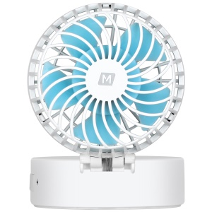 MOMAX iFan 2 Mirror Handheld Rechargeable 180 Degree Rotary Fan - White