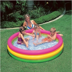 Portable Tri-ring Children Inflatable Swimming Pool Bathtub Water Play Toy