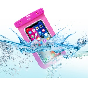HOCO Precious Jade 20m Waterproof Bag Case (Common) for iPhone Samsung Huawei etc., Size: 20 x 10.5cm - Rose