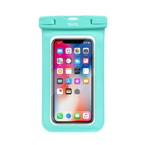 HOCO Precious Jade 20m Waterproof Diving Bag Pouch (Common) for iPhone Samsung Huawei etc., Size: 20 x 10.5cm - Cyan