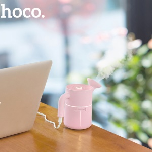HOCO Large Capacity 200ml Creative Cute Kettle USB Air Humidifier - Pink