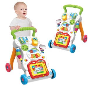 Multi-function Baby Walker Toddler Trolley Sit-to-Stand ABS Musical Walker Speed Adjustment Walking Learning Car