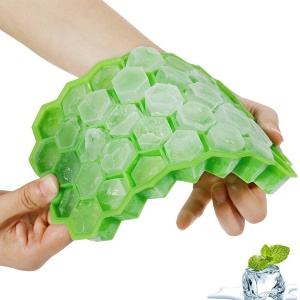 37 Compartments Mini Silicone Ice Cube Maker Mold - Green