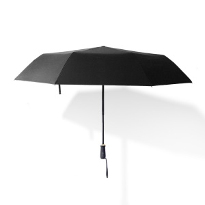 Black - RAY HORSE 10 Ribs Manual Open Folding Business Umbrella Reinforced Wind-proof Sun Protection Umbrella
