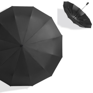 Black - RAY HORSE R3302 Lightweight 12 Ribs Automatic Folding UV Protection Business Umbrella for Men