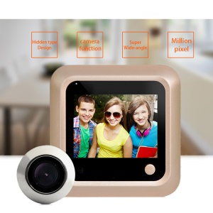 X5 2.4'' LCD Screen Digital Peephole Viewer with HD IR Camera for Home Security (Powered by 3 x AAA Batteries)