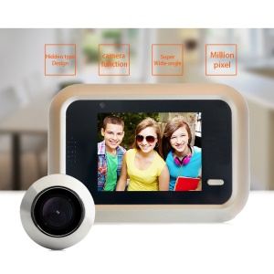 X5 2.4'' LCD Screen Digital Peephole Viewer Monitor with HD IR Camera for Home Security (Powered by Li-ion Battery)