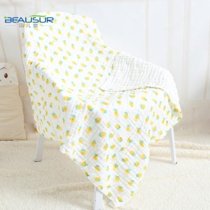 6-layer Cotton Soft Bath Towel Newborn Kid Baby Feeding Saliva Towel - Mango Pattern