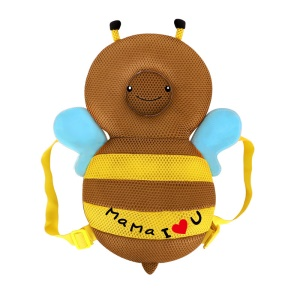 Soft Walking Head Back Protector Safety Pad Harness Cushion for Toddlers (35cm) - Brown Bee