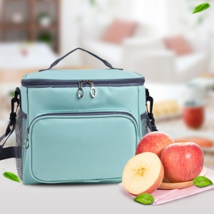 Portable Double Zipper Student Lunch Bag Insulation Bag Food Picnic Thermal Lunchbox Bag Cooler Tote Lunch Bag
