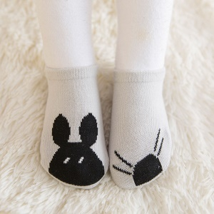 Spring Cartoon Baby Ankle Cotton Socks Anti-skid Glue Floor Walker Socks - Mouse / Size: 0-12 Months