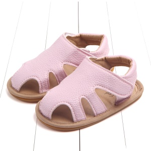 Summer Soft Toddler Sandals PU Leather Breathable Hollow Out Baby Shoes - Pink / Size: 12cm