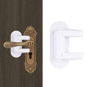 2PCS Door Handle Safety Lock Child Safety Door Lever Lock with Adhesive
