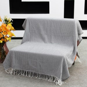 AMORUS Knitting Sofa Blanket Air Conditioning Office Nap Carpet with Glitter Thread - Grey