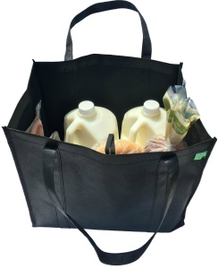 600D Oxford Cloth Foldable and Reusable Grocery Shopping Tote Bag