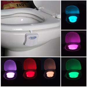 LIGHTBOWL 8-color Motion Sensor Induction Toilet Night Light