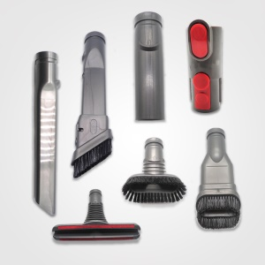 7-in-1 Dyson Vacuum Cleaner Attachment Kit, 2-in-1 Combination Tool + Soft Hair Brush + Stiff Bristle Tool + Flat Seam Nozzle + Mattress Tool + Soft Dusting Brush + 32mm Connector