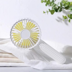Cactus Shape Rechargeable Handheld Fan with Multi-functional Base - White