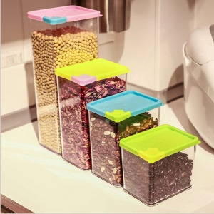 4-Size 530ml 800ml 1070ml 1620ml Food Storage Boxes Containers Set with Lids
