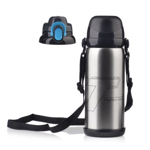800ml Vacuum Outdoor Warm Water Bottle Stainless Steel Sports Insulation Cup - Silver