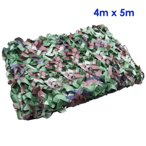 4m x 5m Jungle Cover Woodland Camouflage Camo Net for Camping Hunting Shooting