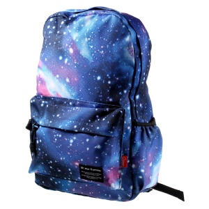 Trendy Teenager Backpack Water-proof Oxford Cloth Casual Daypack Schoolbag - Blue
