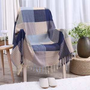 Chenille Jacquard Sofa Cover Towel Chair Blanket 220 x 260cm - Stripes and Grids