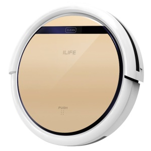 ILIFE 0.3L V5S Robot Vacuum Cleaner with Water Tank for Damp Moping - EU Plug