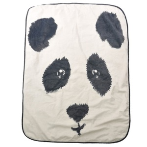 Baby Child Cute Panda Thickened Soft Winter Blanket, Size: 100 x 75cm - White