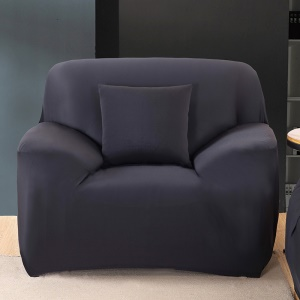 Solid Color Tight Universal Elastic Sofa Cover Slipcover (Single-seater) - Black
