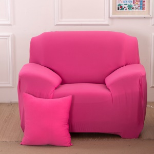 Solid Color Tight Elastic Sofa Cover Polyester Spandex Fabric Slipcover (Single-seater) - Rose