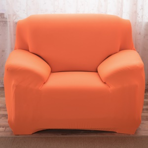 Tight Universal Elastic Sofa Cover Solid Color Slipcover (Single-seater) - Orange