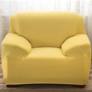 Universal Solid Color Tight Elastic Sofa Cover Slipcover (Single-seater) - Yellow