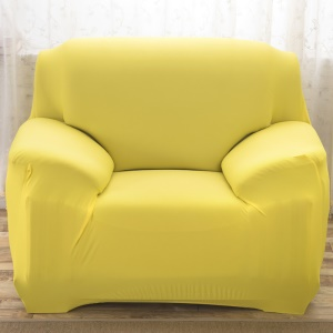 Solid Color Tight Universal Elastic Slipcover Sofa Protector (Single-seater) - Yellowgreen