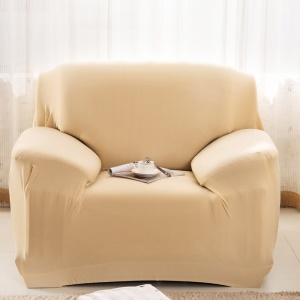 Universal Tight Elastic Solid Color Sofa Cover Slipcover (Single-seater) - Beige