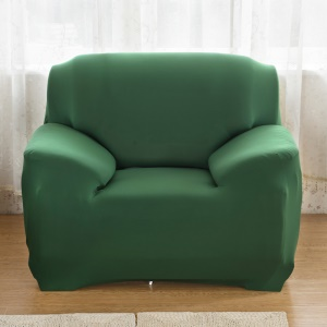 Anti-slip Solid Color Universal Elastic Tight Sofa Cover Slipcover (Single-seater) - Dark green