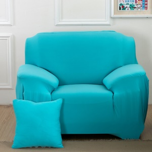 Solid Color Tight Universal Elastic Single-seater Sofa Cover Slipcover - Blue