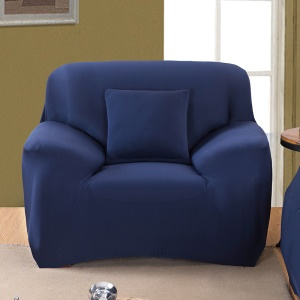 Universal Solid Color Tight Elastic Sofa Cover Slipcover (Single-seater) - Dark Blue