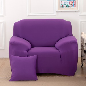 Tight Universal Elastic Sofa Cover Solid Color Slipcover (Single-seater) -  Violet