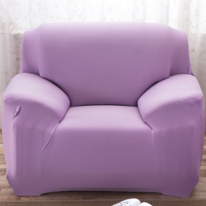 Universal Tight Elastic Solid Color Sofa Cover Slipcover (Single-seater) - Light Purple