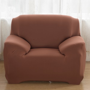 Universal Solid Color Tight Elastic Sofa Furniture Protector (Single-seater) - Dark Brown