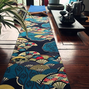 135 x 20cm Cotton Linen Japanese Art Style Joint Tablecloth Table Runner Dining Top Deco