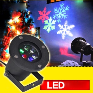 Snowflake Pattern Waterproof Outdoor Dynamic Light Festival Decoration Lawn Projection Lamp - EU Plug