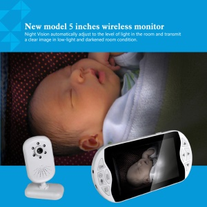 LEEHUR 2.4GHz Wireless Digital Video Baby Monitor with IR Night Vision - EU Plug