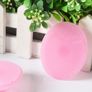 WINLY Silicone Beauty Makeup Face Cleaning Brush - Pink