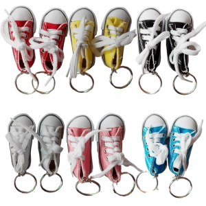 12Pcs/Lot Innovation Fashion Canvas Shoe Key Chain